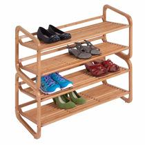Estante Para Zapatos De Bamboo Ideal Para Decoracion Interio