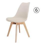 6 Cadeira Saarinen Leda Sked Lena Base Wood Design Nude