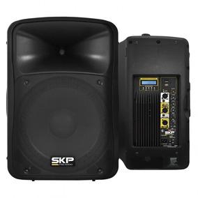 Caixa Amplificada Skp Sk-5p Sk 5p Sk5p Ativa 250wrms 15 Usb