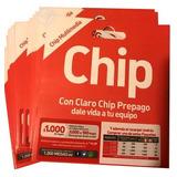 Chip Claro A $250, $1.000 Carga Inicial+100mb, 100 Unidades