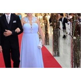 Vestido Madrinha Mãe De Noiva Festa Casamento Debutante Azul