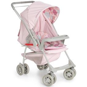 Carrinho De Bebê Galzerano Milano Reversível Ii Rosa Bebê