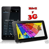 Tablet Pc 7 Android 3g, Doble Chip, Doble Camara + Flash.