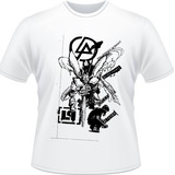Camiseta Linkin Park Hybrid Theory Rock Papercut Camisa Song