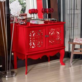 Armario Buffet Decoração Sala 2 Portas Com Espelho