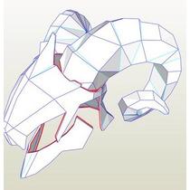 Mascara Con Cuernos Plantillas-papercraft