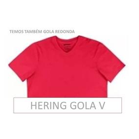Camiseta Hering Gola V Masculina Manga Curta 4 Pecas