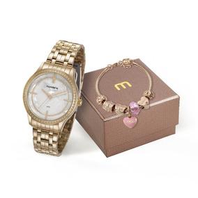 1df2380fb2c Relogio Feminino Mondaine Dourado Onca - Relógios De Pulso em ...