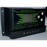 Regulador Controlador Panel Solar 30a 12v/24 Luz Lcd Y 2 Usb