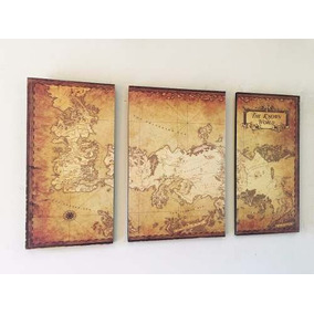 Cuadros - Mapa Game Of Thrones B (66,7x40cmtotal)