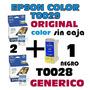 Epson T0029 Color X2 Original + 1 T0028 Generico Negro