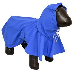 Capa De Chuva P Cães Cachorros Impermeável Tamanho M Azul