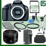 Canon Eos Rebel T3 Cámara Digital Slr Y Canon 50mm F / 1...