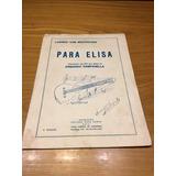 Para Elisa Partitura Para Guitarra Ludeig Van Beethoven