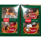 Trineo Navideño Coca Cola 2018 Colección Completa 4 Piezas