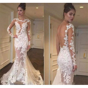 Vestido De Noiva Sereia Tule C/ Aplicação