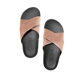 Sandalias - Ojotas Victorias Secret - Pink Dorado Rosado