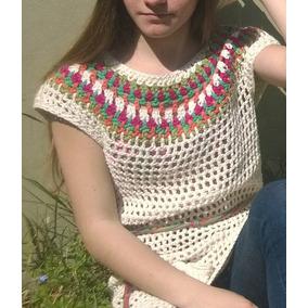 Sweater Tejido Crochet Hilo