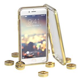 Capa Híbrida Para Iphone 6 / 6s/ 7 Gatche Dourada