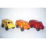 Autobus Microbus D Pasajeros Set De 3 - Camioncito D Juguete