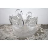 Excelentes Cisnes Ganzos Patos Pareja En Cristal Decorativo