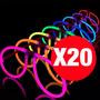 Pack De 20 Lentes Fluorecentes Pulseras Luminosas Fluor