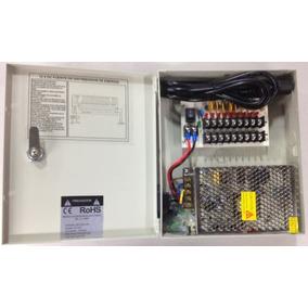 Fuente De Poder/ 12v 10 Amperes/ Distribuidor Para 9 Camaras