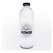 Botella De Vidrio Vegan Power