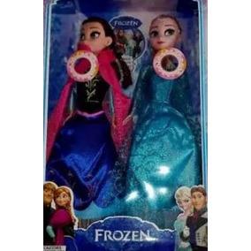 Boneca Frozen Fever Ana + Elsa Musical Pronta Entrega