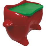 Baú Mesa De Plástico Para Guardar Brinquedos - Vermelho -