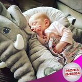 Bebe Travesseiro Elefante Pelúcia Almofada Enxoval 60 Cm
