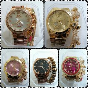 Promção 10 Relógios Mk Feminino + Pulseira + Caixas +frete