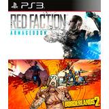 Red Faction Armageddon & Borderlands 2 Digital Latino Ps3