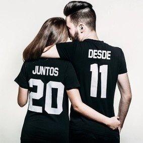 Kit Casais Juntos Data +camisetas Love Oferta