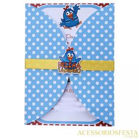Convite Infantil 1 Aninho Galinha Pintadinha - Qualquer Tema