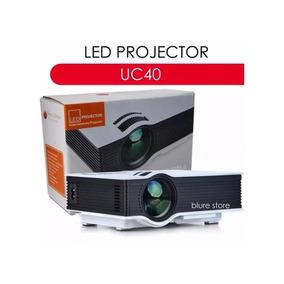 Mini Projetor Led Uc40 1080p Av Hdmi 130 Polegadas - Branco