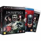 Jogo Ps3 Injustice Gods Among Us + Liga Da Justiça Fisica