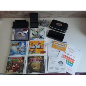 Nintendo 3ds Completo + Jogos (pokémon Versão Limitada)