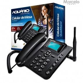 Telefone Celular De Mesa Aquário Ca-40 Sim Card Sem Juros