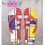 Chinelo Formatura Arquitetura, Mondrian - Kit 20 Pares
