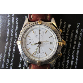 Relógio Breitling Chronomat Pulseira De Couro