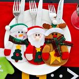 Navidad Cubiertos Tenedores Bolsas Navidad Cena Cubiertos
