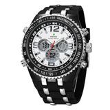 Reloj Weide Wh1107 Análogico Y Digital Luz Cronometro