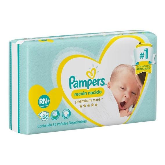 56 Pa?ales Pampers Premium Care Recién Nacido (3 A 6 Kg) Rn+