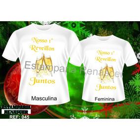 Kit 2 Camisas Camisetas Namorados - Amor, Ano Novo Juntos