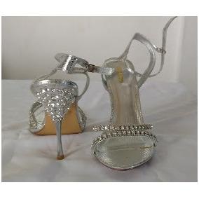 Zapatillas De Dama, #27 Color Plata. Envío Gratis