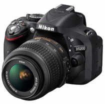 Reflex Nikon D5200 Kit 18-55mm Full Hd 24mp D3200 12 Cuotas