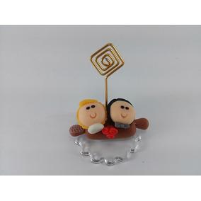 Lembrancinha Casamento Em Biscuit Casal Porta Recado
