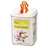 Fellip-contenedor Comida Perro Mascota Cuadrado Med Orange