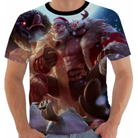Camiseta League Of Legends Braum Santa Lol Color
